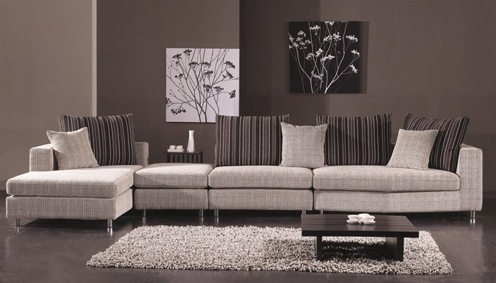 Contemporary micro upholstery corner l shape sofa newport news virginia a538238lohe Modern sofas to go with any type of decor