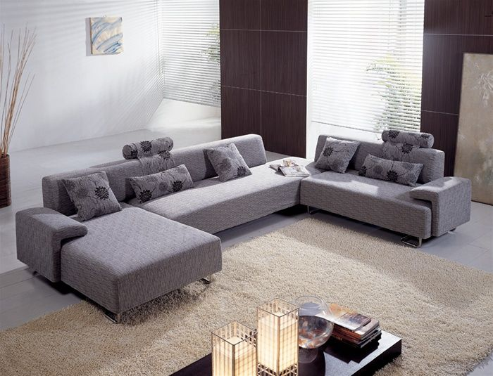 Luxurious Colorful Microfiber Sectional