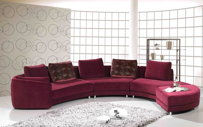 Contemporary Microsuede Fabric Sectional Oceanside