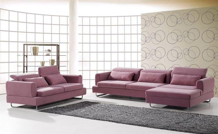 Exquisite Tufted Microsuede Fabric Sectional Fort