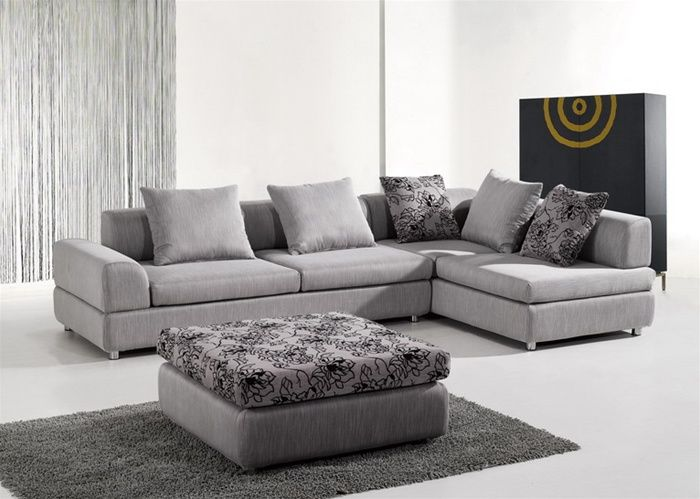 Stylish Microfiber Sectional in Colors - Click Image to Close