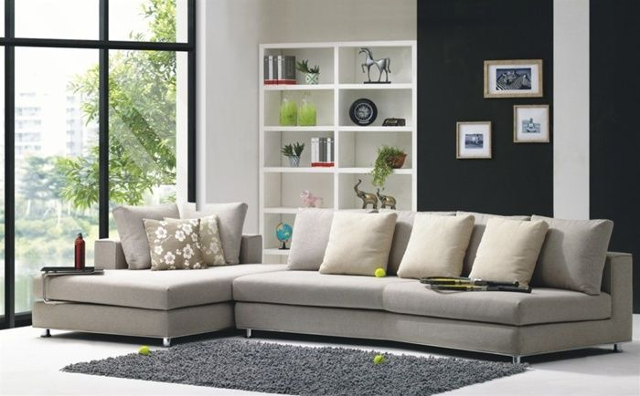 Microfiber Couches Corner Sectional Sofas