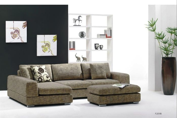 Contemporary slipcovered sectional spokane washington b2538238qohe Modern sofas to go with any type of decor