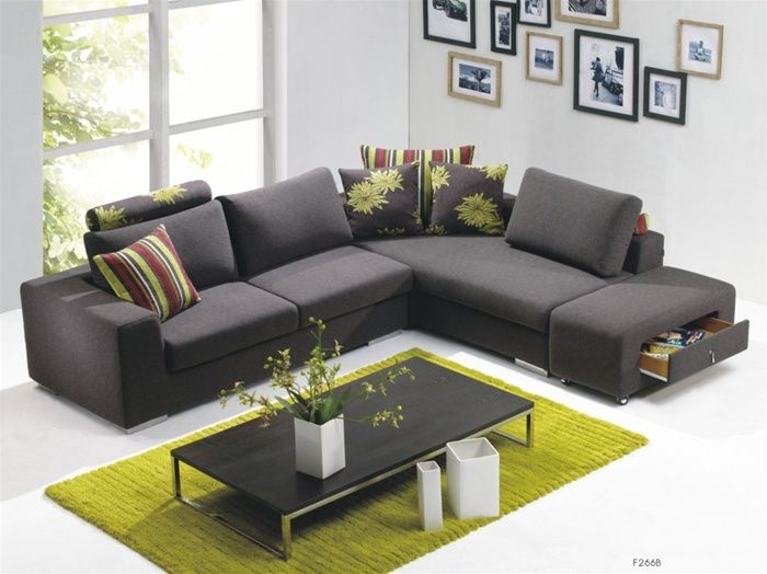 Luxurious microfiber living room furniture durham north for Navy blue microfiber sectional sofa