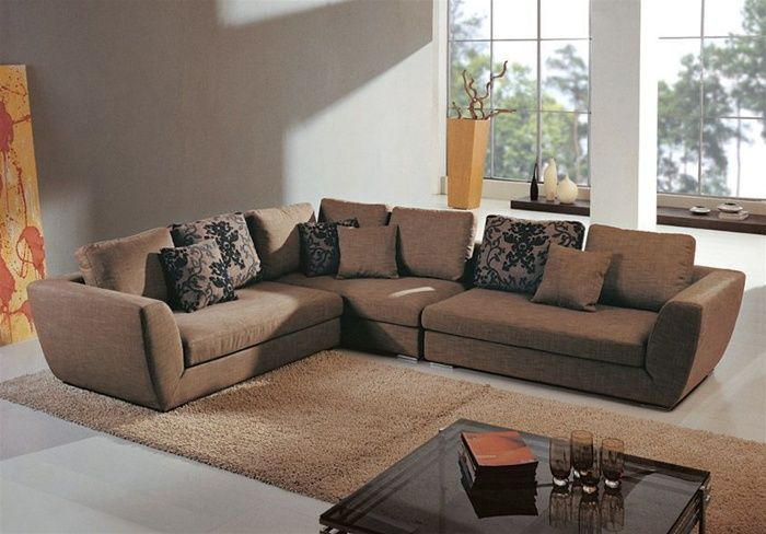 Cool Contemporary Sectional Upholstered Micro Suede Fabric With Pillows Andrewgaddart Wooden Chair Designs For Living Room Andrewgaddartcom