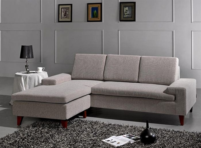 classic design microfiber sectional sofa with polished oak base p