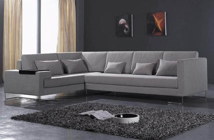 Microfiber Fabric Sectionals Corner Sofa Bed Slipcovered