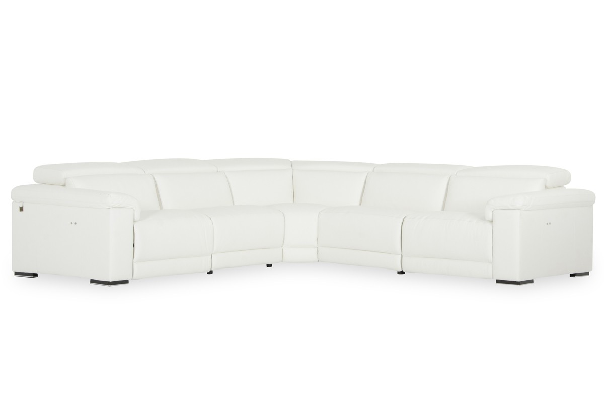 Strange Elite Reclining Sectional Lounge With Adjustable Headrests Unemploymentrelief Wooden Chair Designs For Living Room Unemploymentrelieforg
