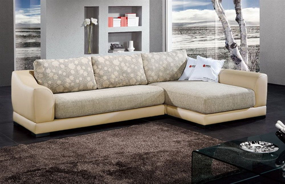 grey color fabric upholstery modern leather sectional sleeper p