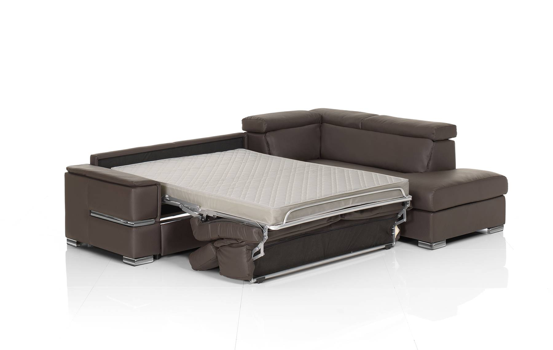 Fold out sleeper sofa brown leather sectional sofa with for Sectional sofa with fold out bed