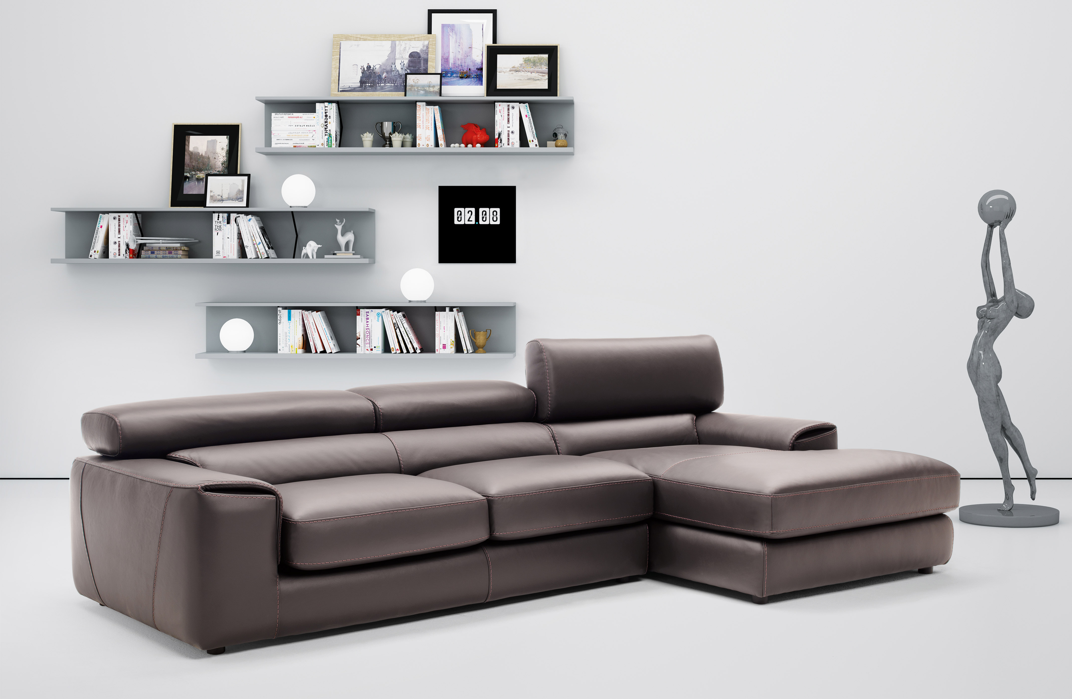 Graceful Full Leather Sectional with Chaise Overland Park Kansas