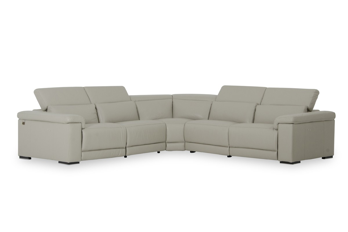 Contemporary Genuine Leather Sectional - Click Image to Close