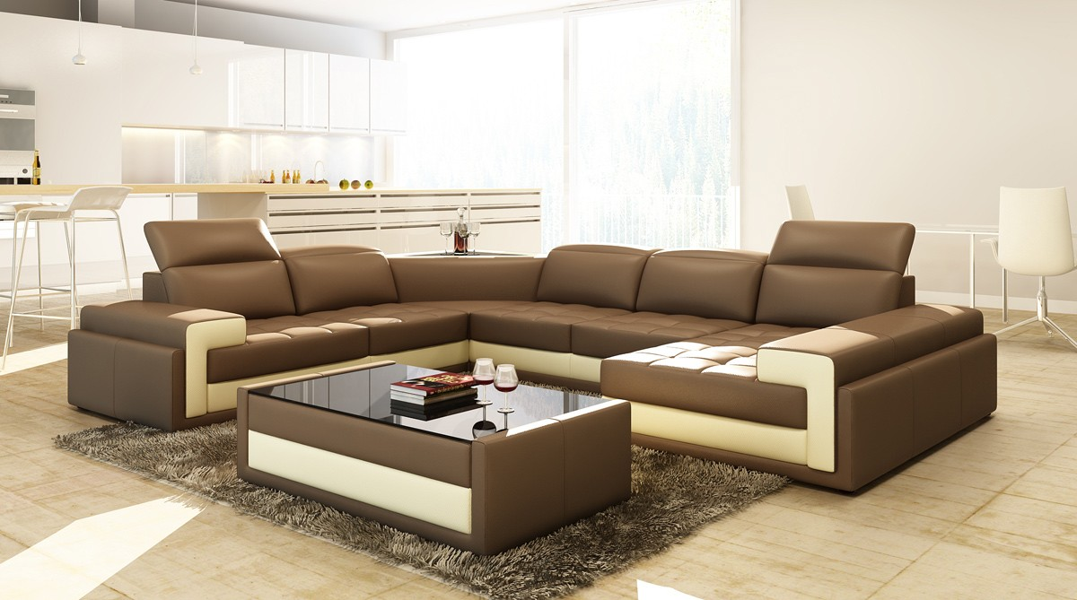 Merveilleux Quality Bonded Leather, Corner Sectional Sofas