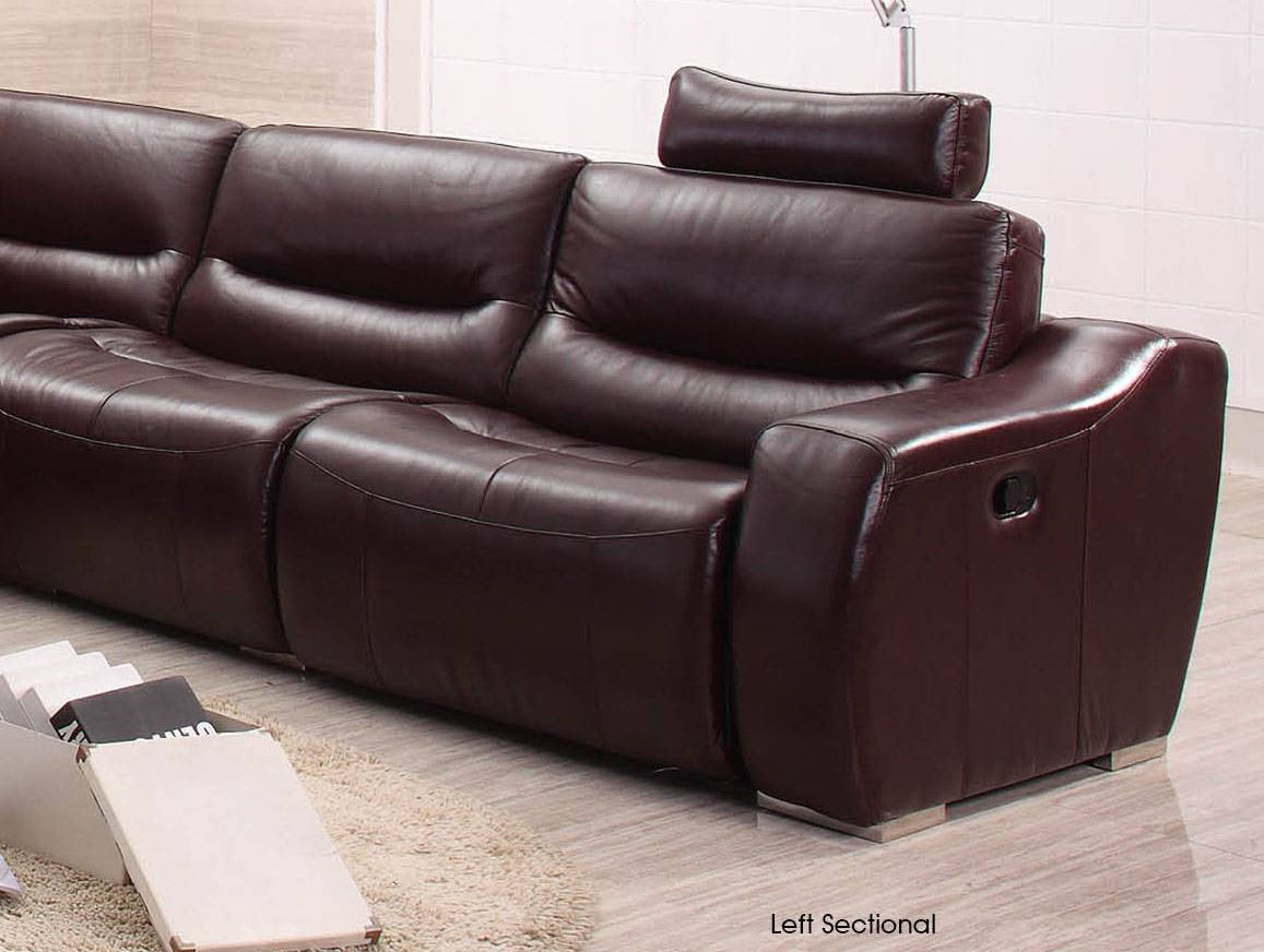 Extra Spacious Italian Leather Sectional Sofa in
