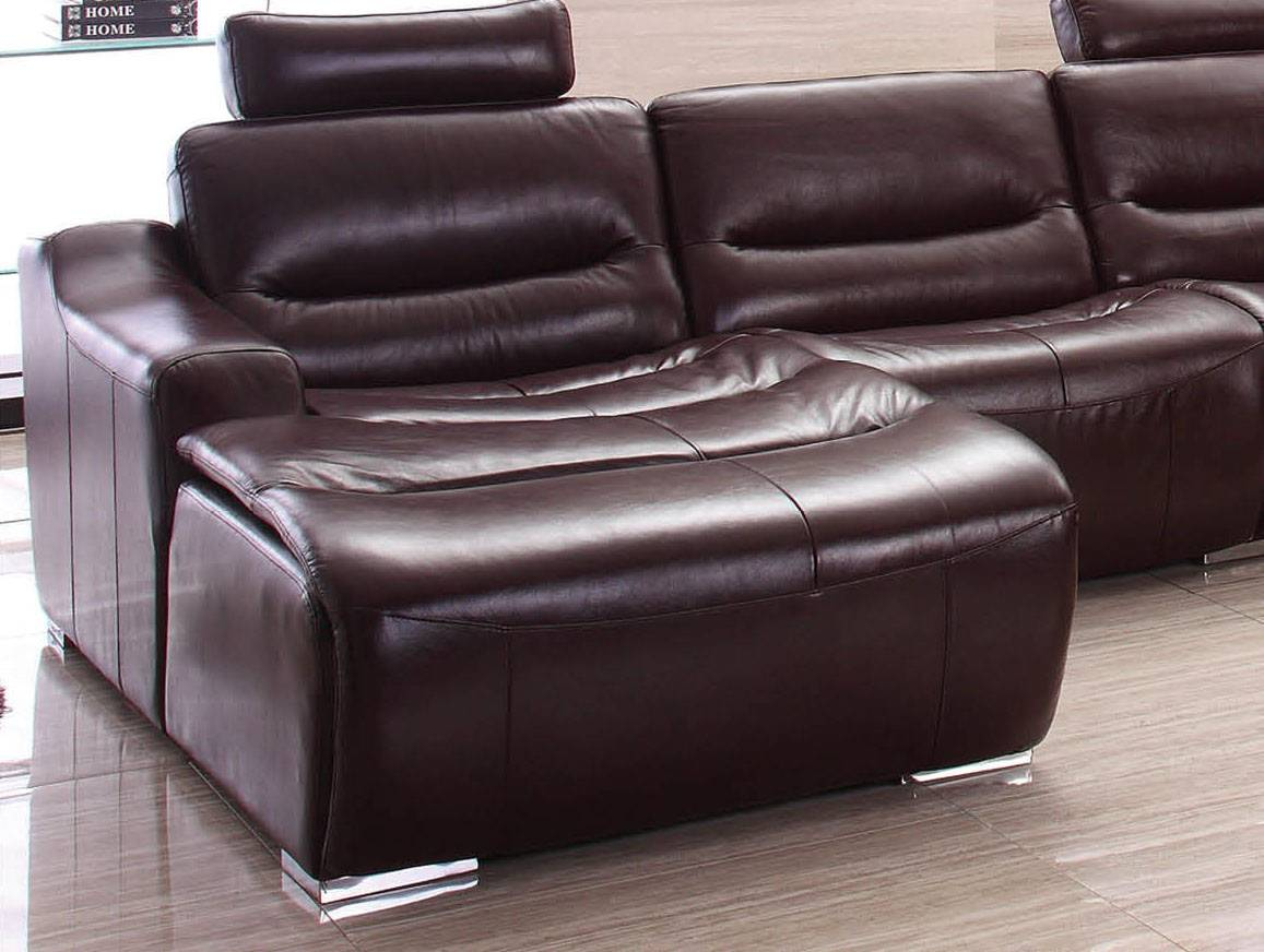 Leather Sectional Sofa In Brown Larger Image
