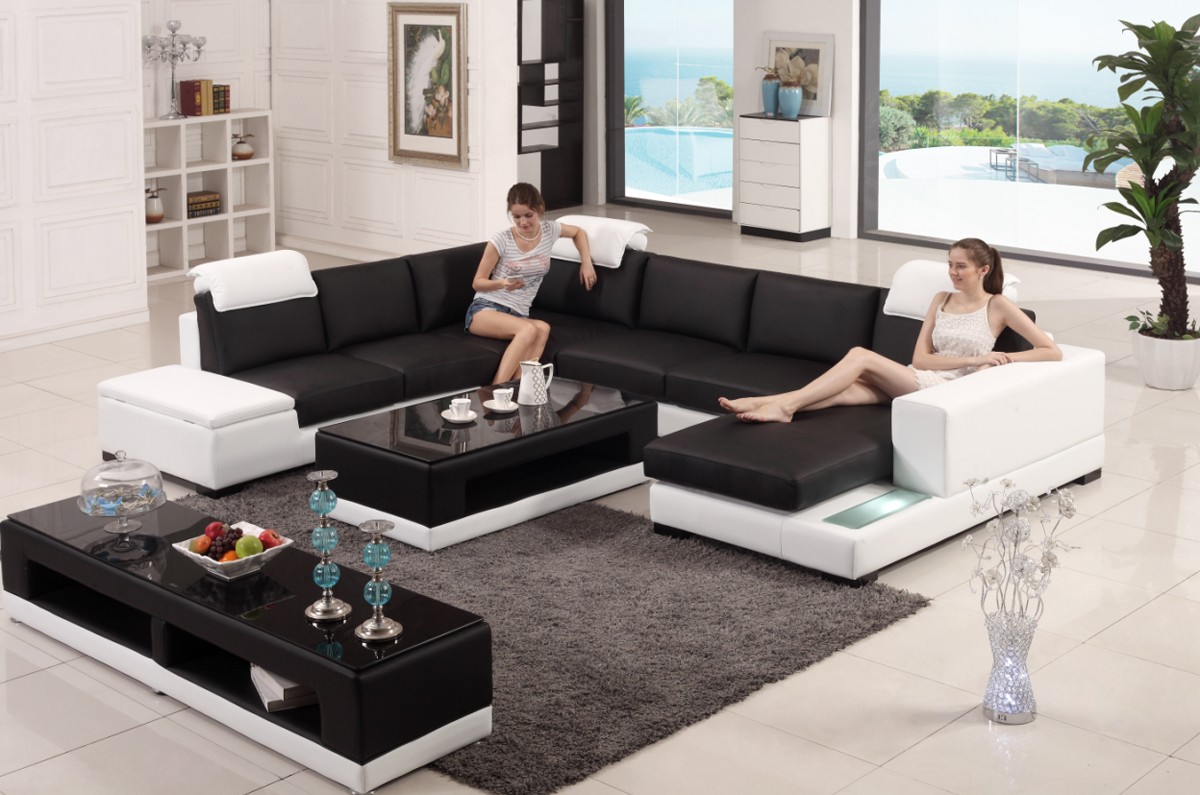 Contemporary Genuine Leather Sectionals