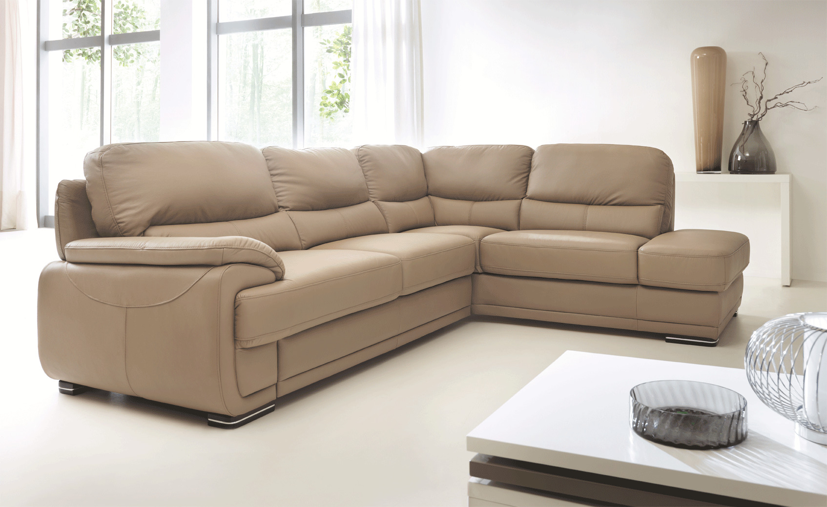 Real Leather Sectional Sleeper With Pull Out Bed Kansas Missouri Esf Argento Orren Ellis
