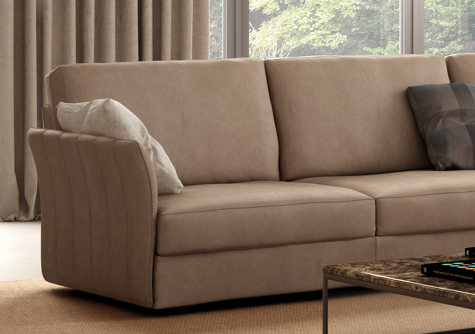 Italian Sectional Sofa Set In Luxury Leather Fort Worth