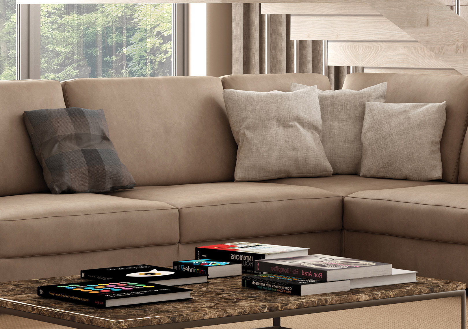 larger image Italian Sectional Sofa Set in
