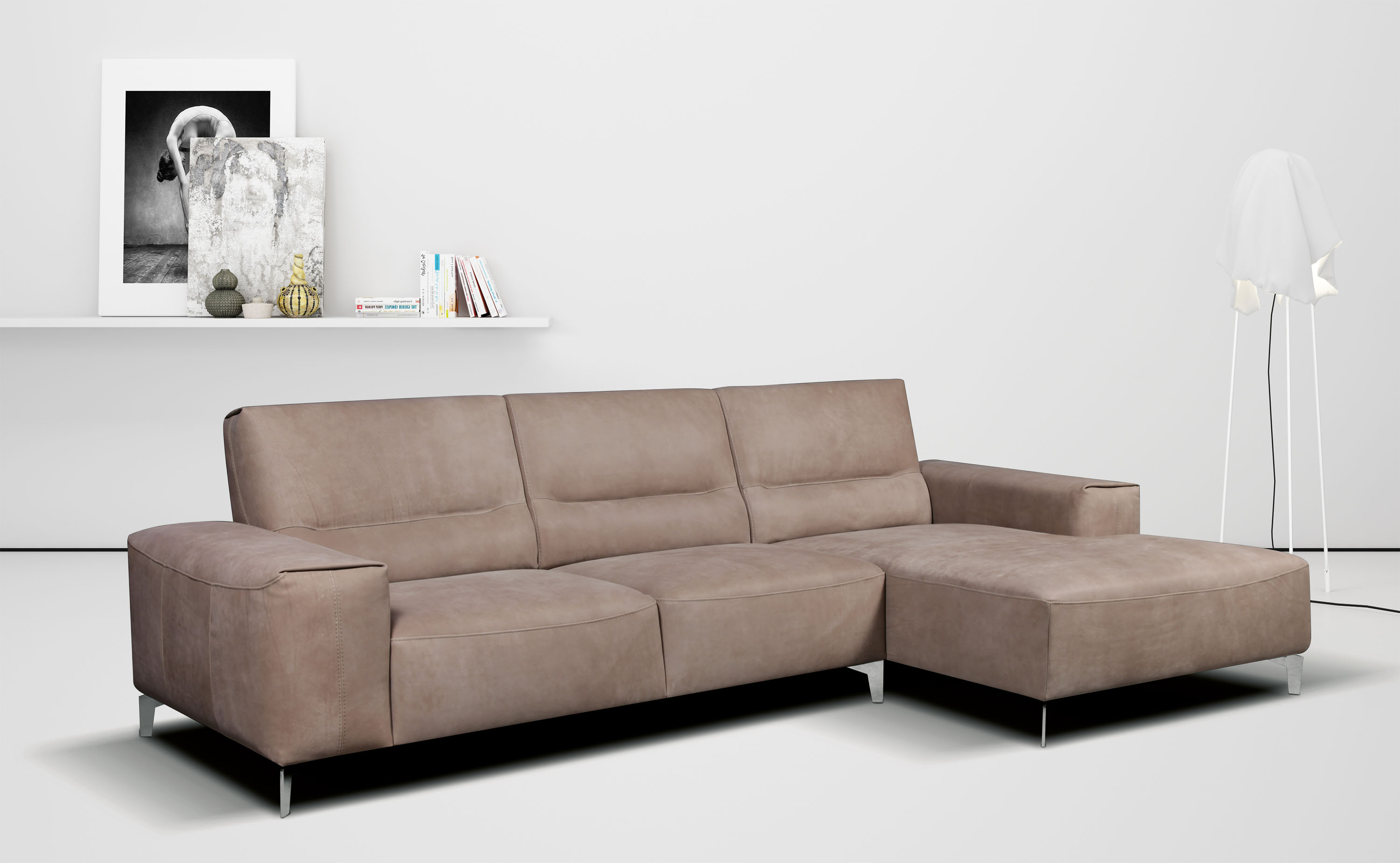 Small studio apartment size sectional with optional for Apartment size leather sofa