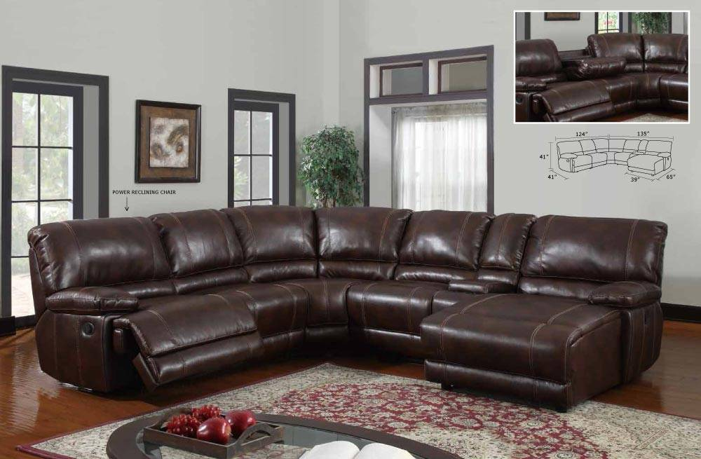 Traditional Style Sectional Sofa Set With Recliner Los