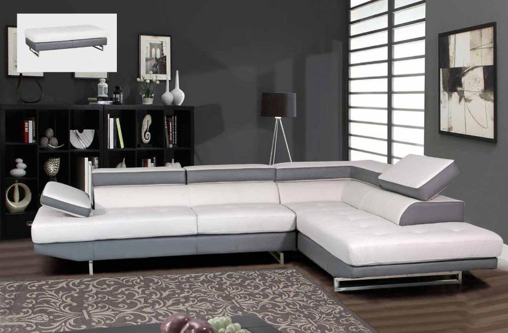 Quality Bonded Leather Corner Sectional Sofas : white sectional sofa with chaise - Sectionals, Sofas & Couches