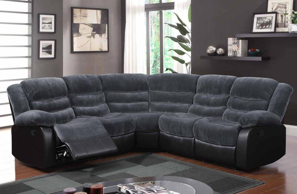 Contemporary Champ Thunder Upholstered Fabric Sofa