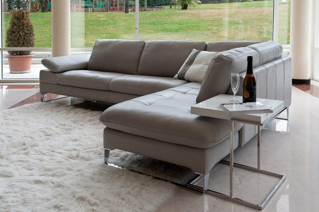Refined Covered In All Leather Sectional Montgomery