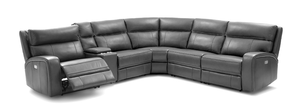 Advanced Adjustable Sectional Upholstered In Real Leather