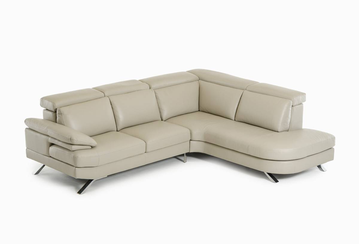 Contemporary Leather Upholstery Corner L-shape Sofa Akron