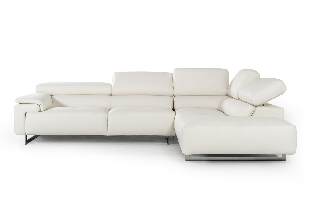 Bright Refreshing Look Sectional with Extra Padded Cushions