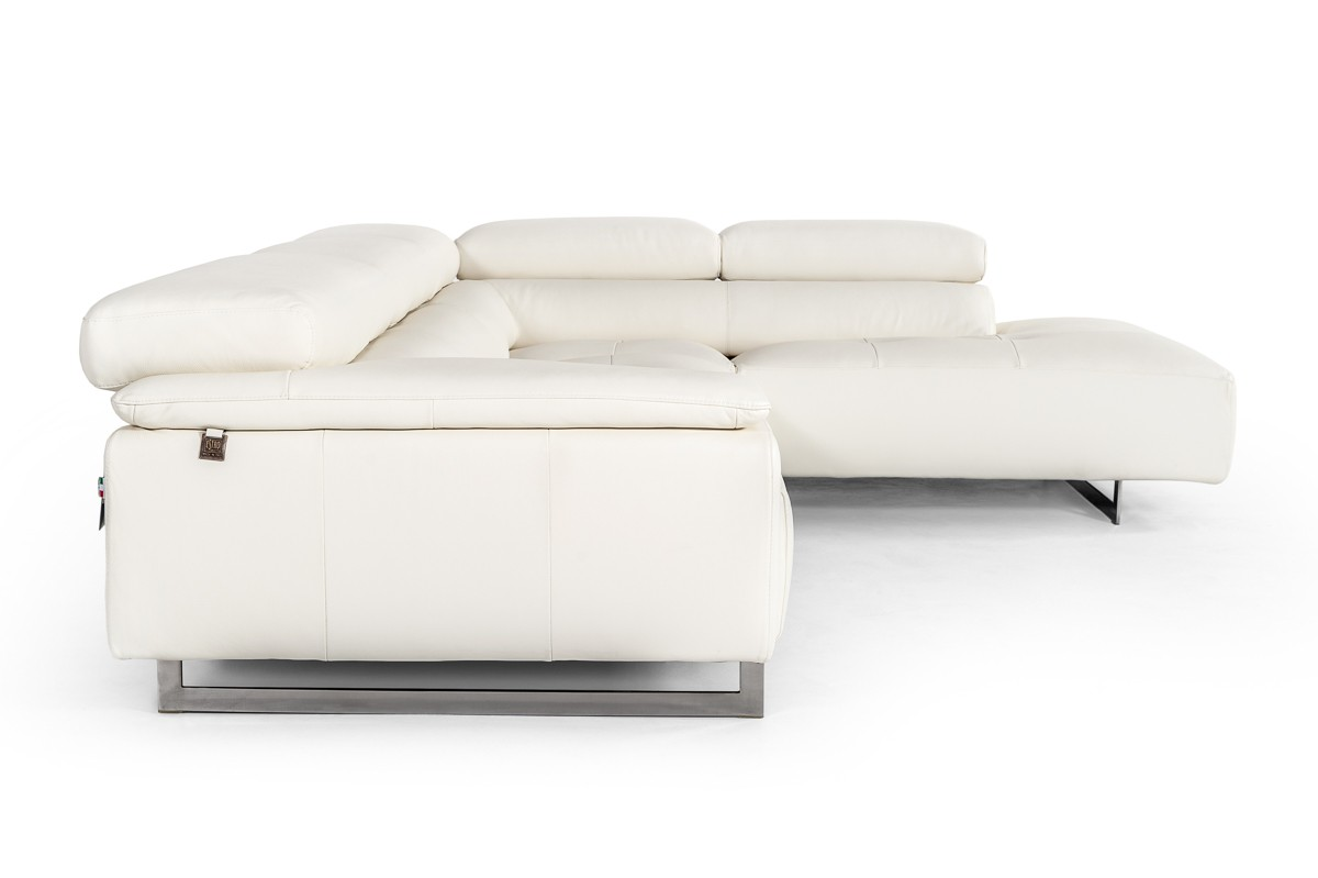 Bright Refreshing Look Sectional with Extra Padded Cushions - Click Image to Close