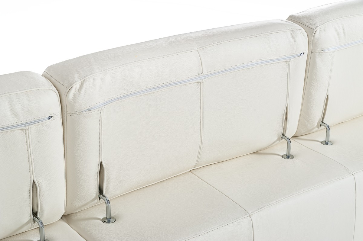 Bright Refreshing Look Sectional With Extra Padded
