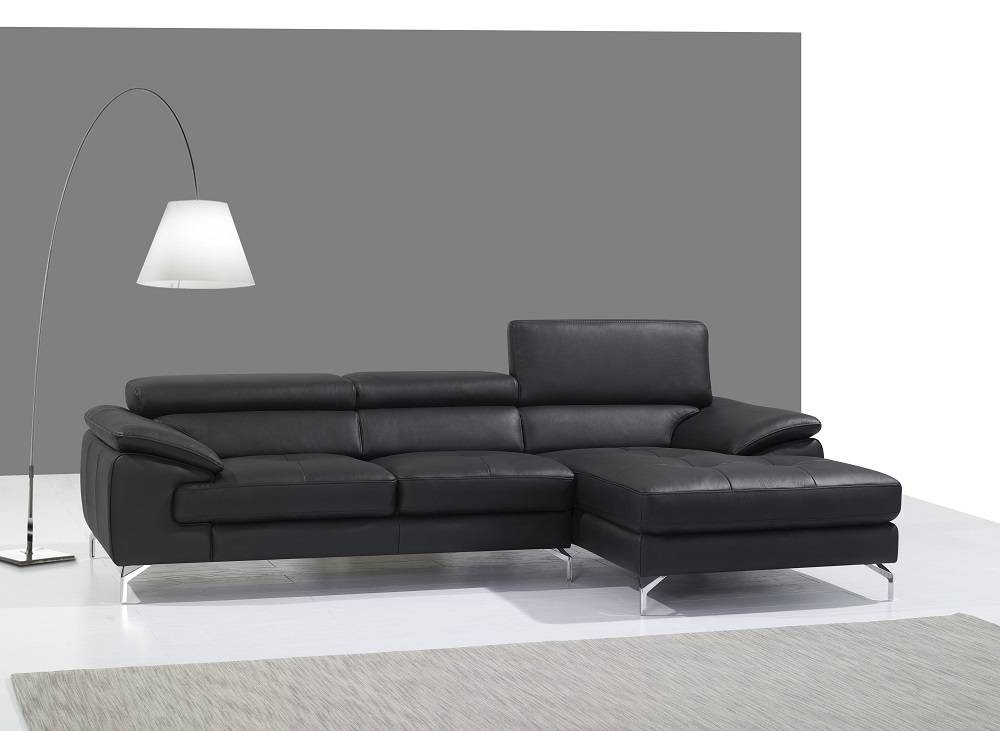 Remarkable Black or Red Italian Leather Sectional Sofa Philadelphia ...