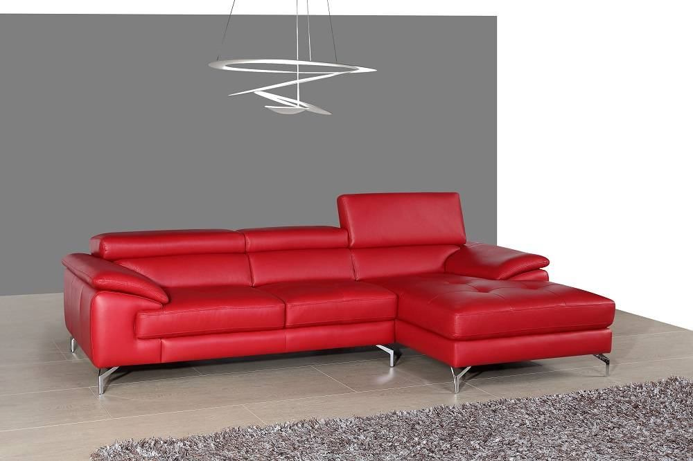 details about remarkable red italian leather sectional sofa