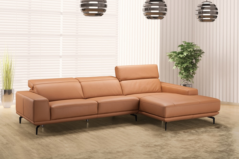 Genuine And Italian Leather Corner Sectional Sofas Tan Leather Sectional2