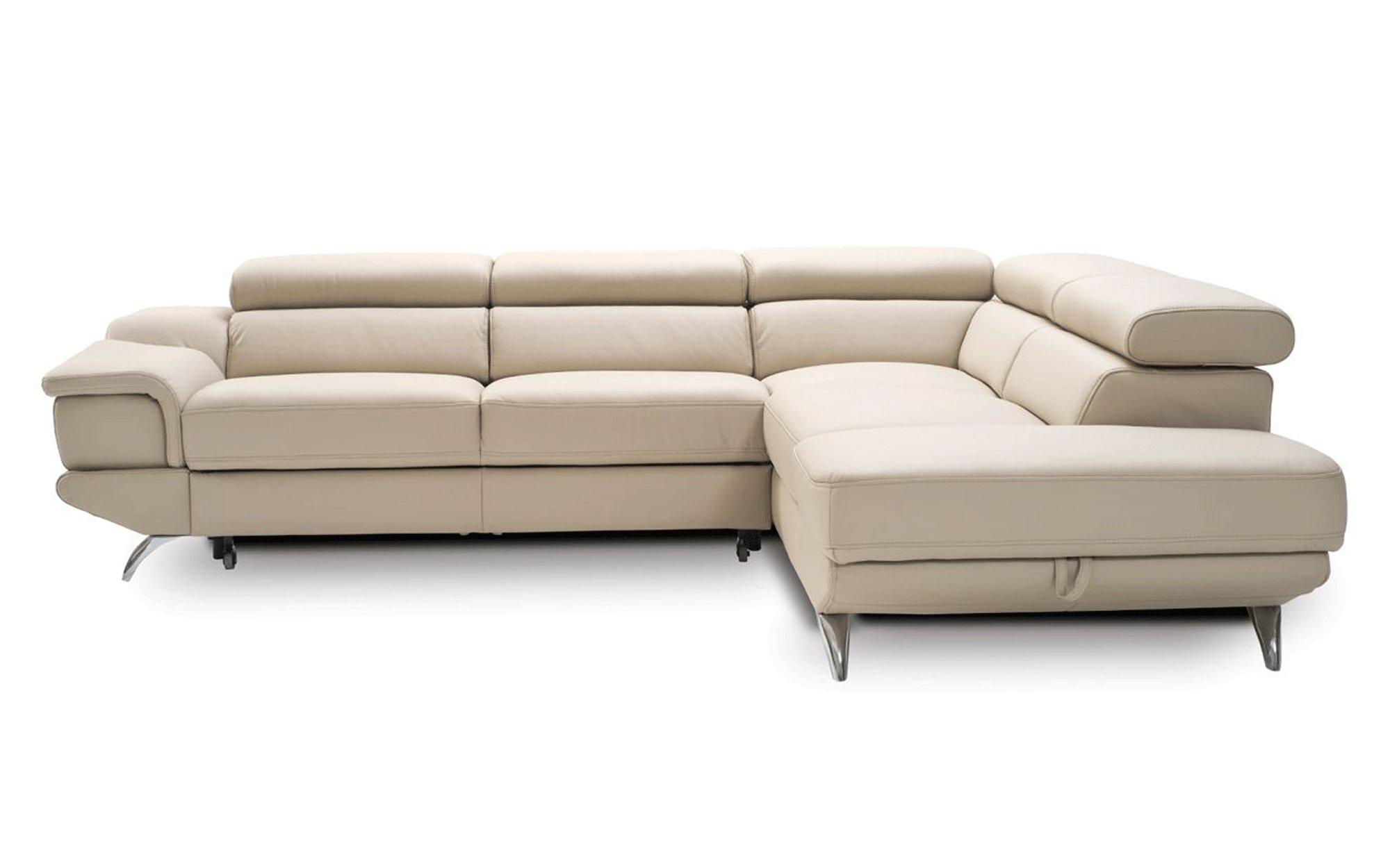 Exclusive Italian Top Grain Leather Sectional Sofa San