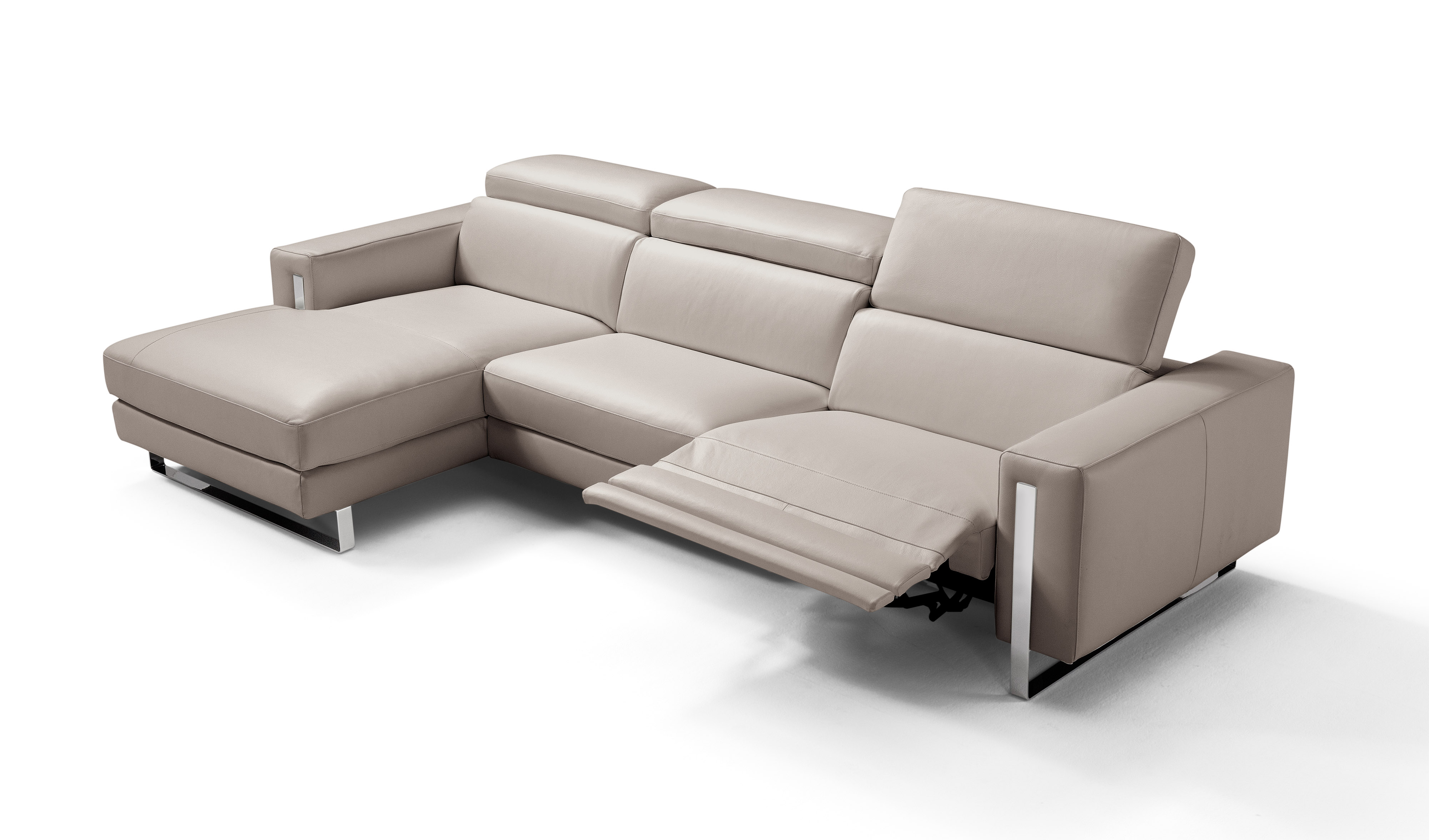 Advanced Adjustable All Real Leather Sectional