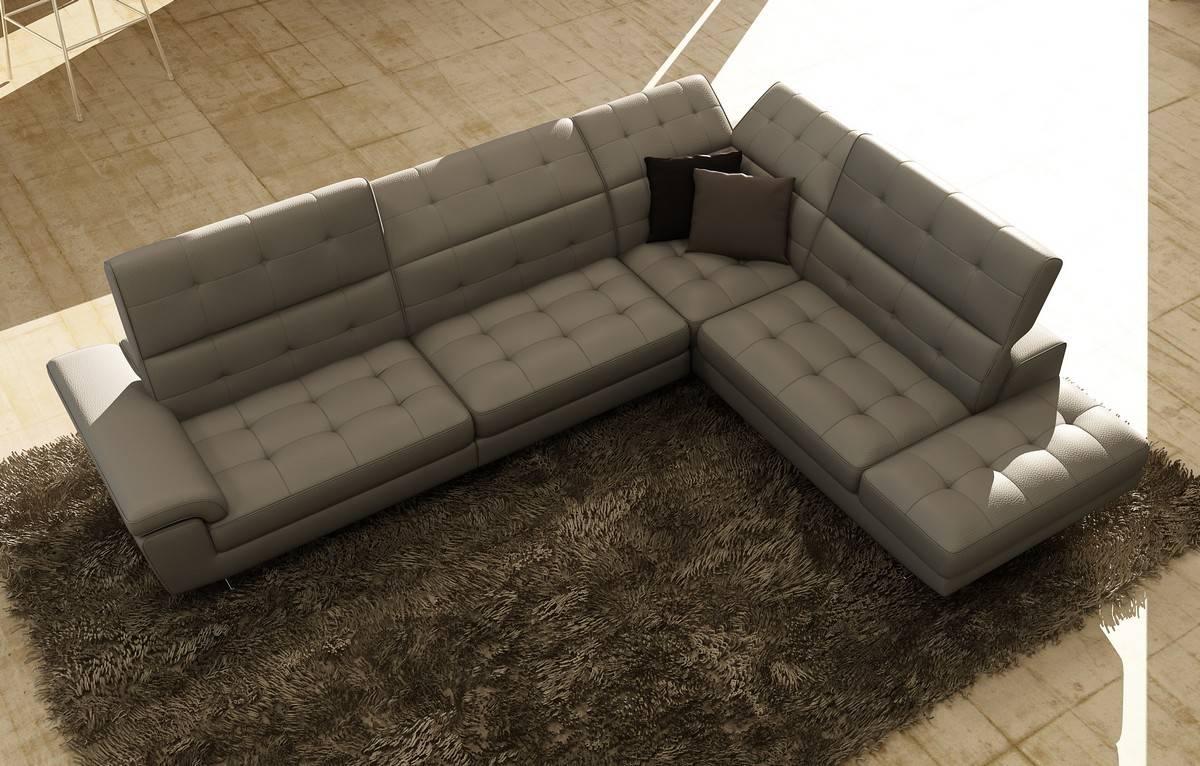 Contemporary Full Italian Leather Sectionals Birmingham