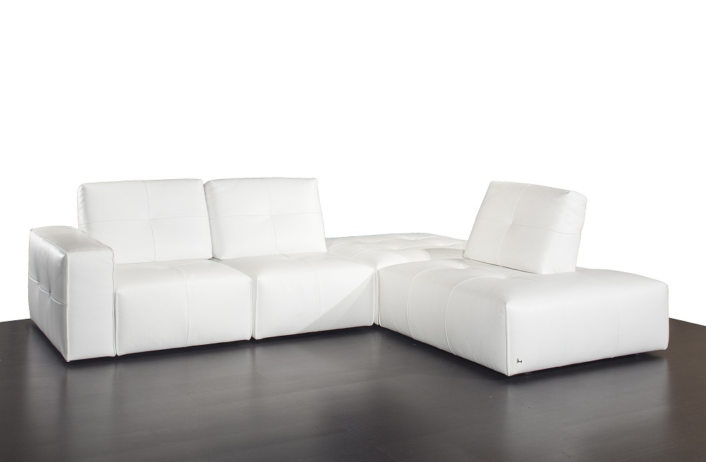 Advanced Adjustable Tufted Top Grain Leather Sectional in