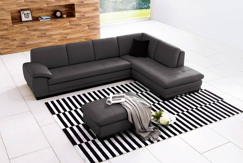 Sectional sofa in top grain italian leather chicago for Genuine italian leather sectional sofa