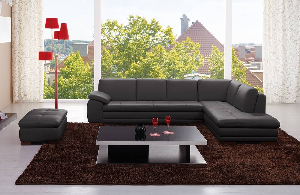 Sectional Sofa in Top Grain Italian Leather - Click Image to Close