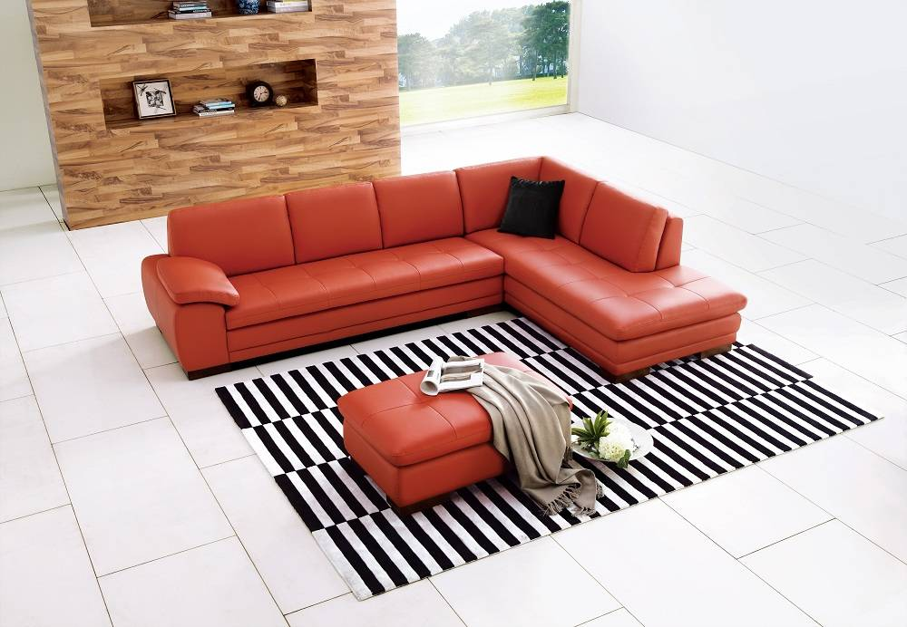 Advanced Adjule Leather Sectional With Chaise Washington Dc J M. Unique Red  Contemporary Wooden Pillow Burnt Orange Sectional Sofa As Well Leather With