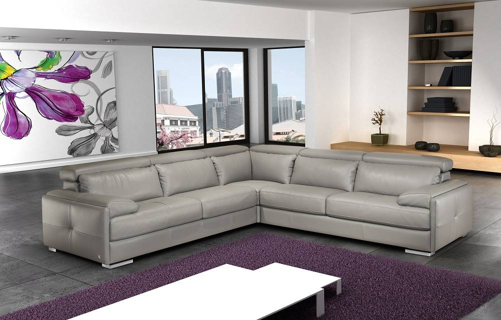 Contemporary Style Modern Genuine Italian Sectional Fort