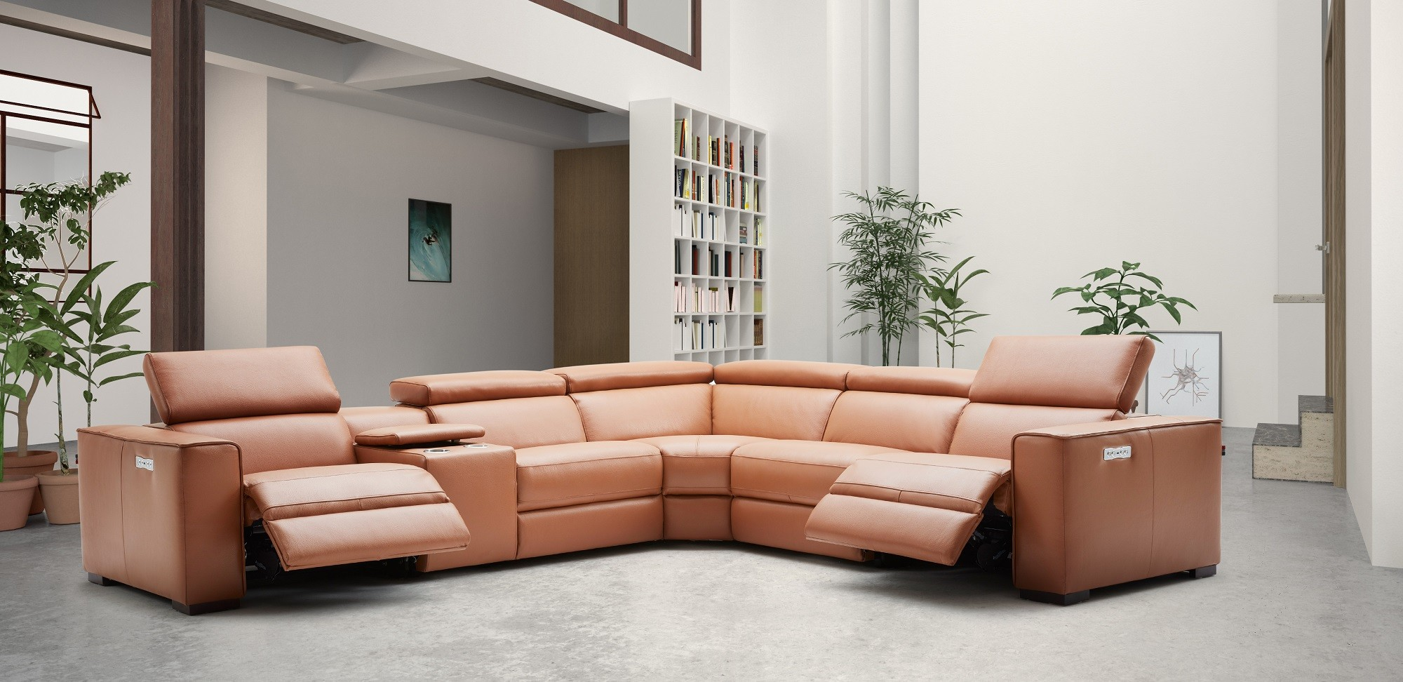 Terrific Advanced Adjustable Leather Corner Sectional Sofa With Cushions Caraccident5 Cool Chair Designs And Ideas Caraccident5Info