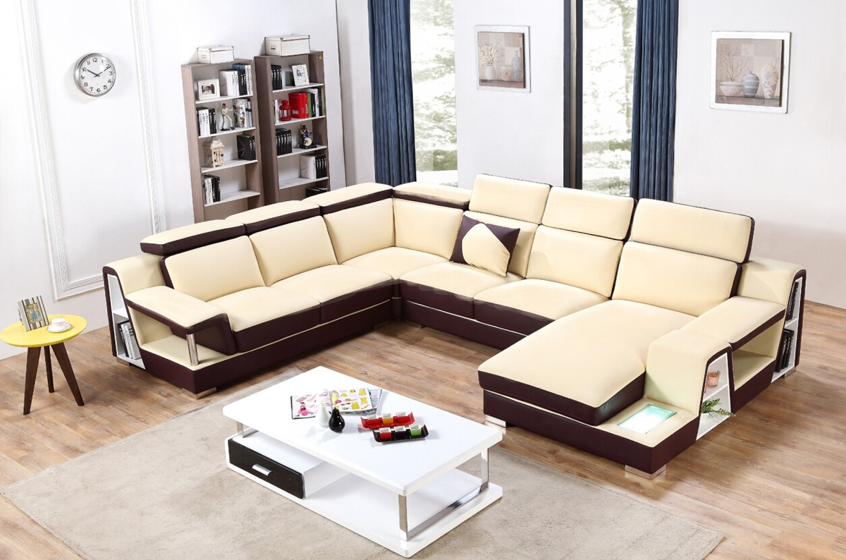 Enjoyable Advanced Adjustable Italian Top Grain Leather Sectional Sofa Dailytribune Chair Design For Home Dailytribuneorg