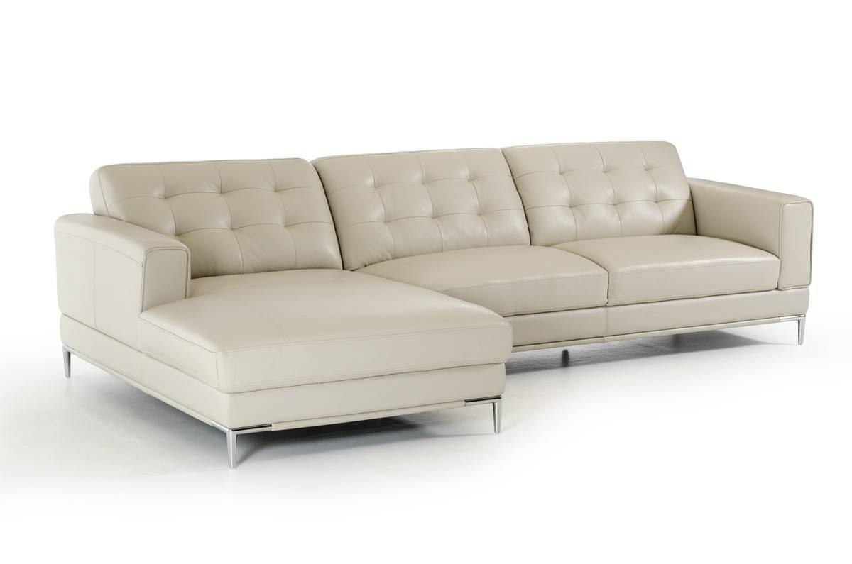 Refined modern genuine italian sectional elizabeth new for Italian leather sofa
