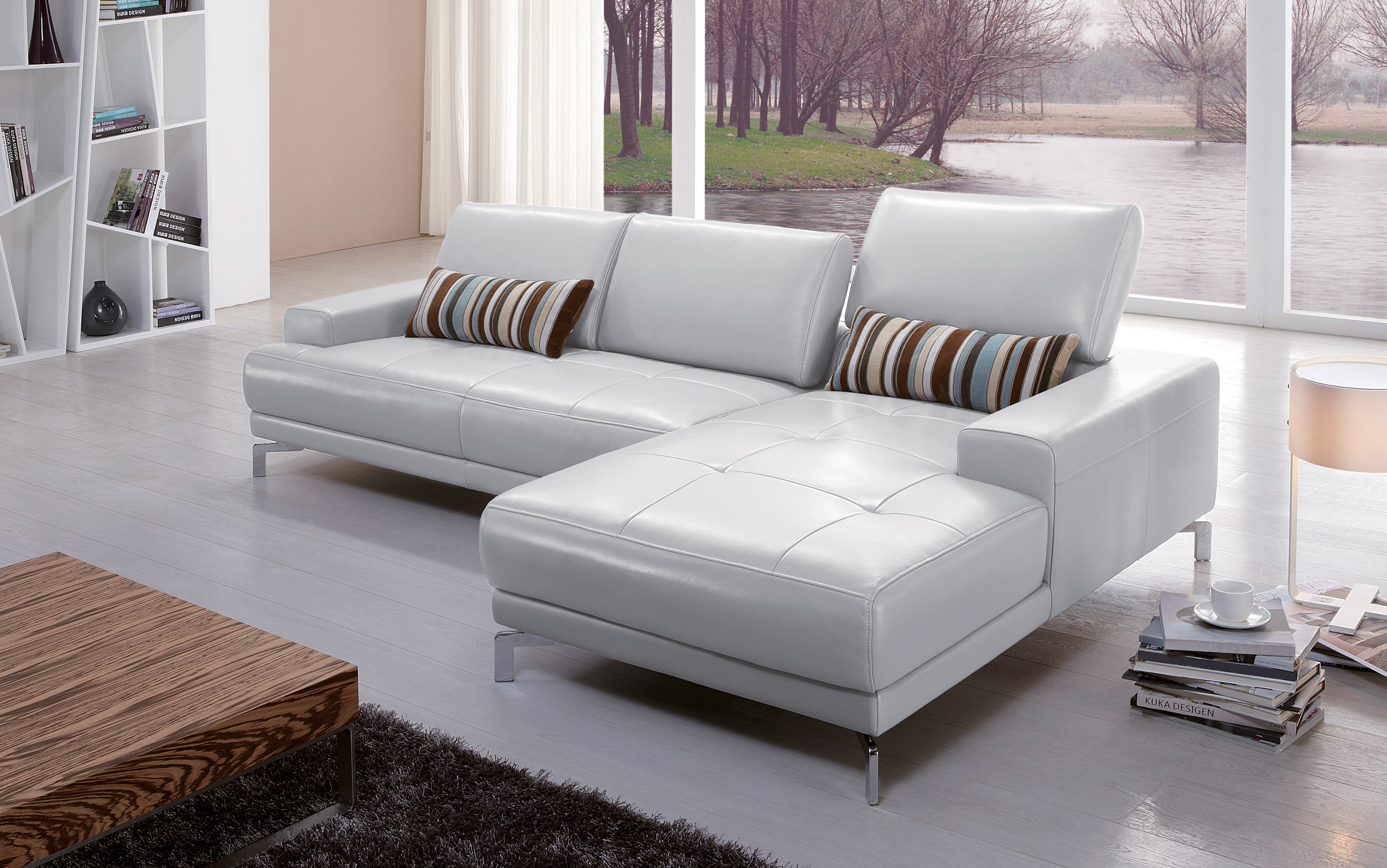 High class Italian Top Grain Leather Sectional Sofa Los Angeles