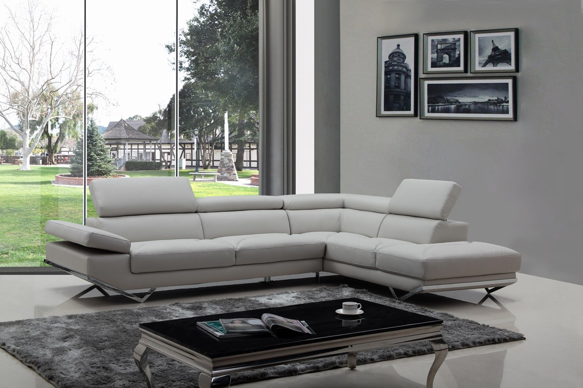 Fashionable Corner Sectional L-shape Sofa Anchorage Alaska VIG ...