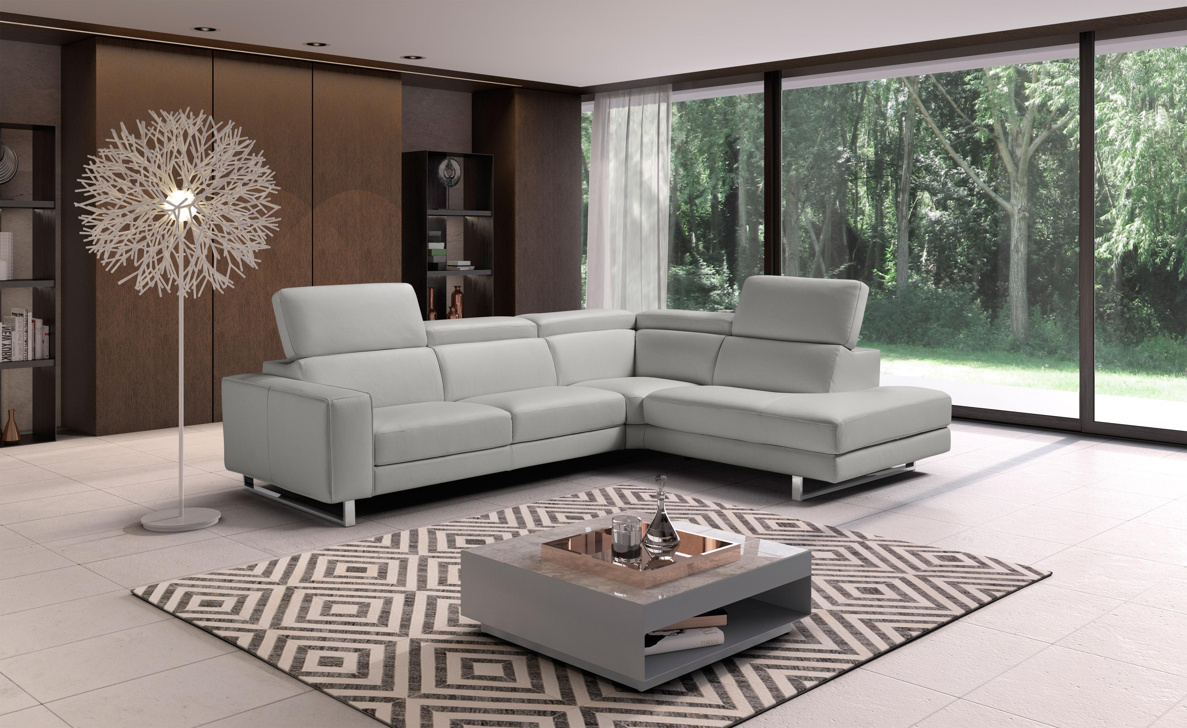Adjustable Advanced Leather Upholstery Corner L-shape Sofa